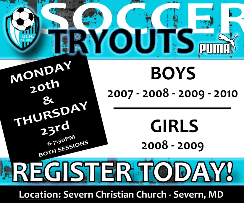 2019-20 DCFC TRYOUTS AD EXTRA TRYOUTS